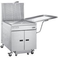 Pitco 24R-SSTC Liquid Propane 100-117 lb. Donut Floor Fryer - 72,000 BTU