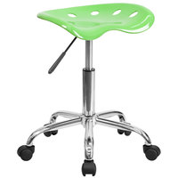 Flash Furniture LF-214A-APPLEGREEN-GG Apple Green Office Stool with Tractor Seat and Chrome Frame