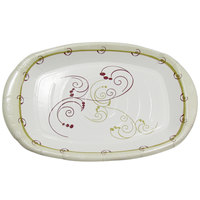 Dart Solo PL86-J8001 Symphony 8 inch x 6 inch Medium Weight Paper Platter   - 1000/Case