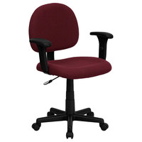 Flash Furniture BT-660-1-BY-GG Mid-Back Burgundy Ergonomic Office Chair / Task Chair with Adjustable Arms