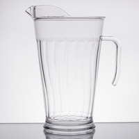 Fineline 3402-CL Platter Pleasers 1.9 Qt. Clear Plastic Pitcher