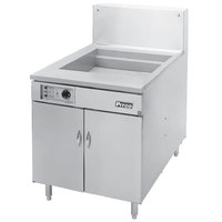 Pitco 24F-M Liquid Propane 150-170 lb. High Capacity Food and Fish Floor Fryer with Mechanical Thermostat Controls - 150,000 BTU