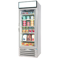 Beverage-Air MMR27-1-W-EL-LED MarketMax 30 inch White One Section Glass Door Merchandiser Refrigerator with Electronic Lock - 27 cu. ft.