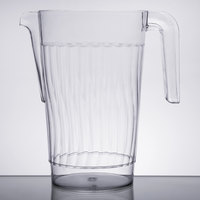 Fineline 3401-CL Platter Pleasers 1.56 Qt. Clear Plastic Pitcher