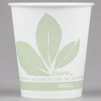 Dart Solo R53BB-JD110 Bare Eco-Forward 5 oz. Wax Treated Printed Paper Cold Cup - 100/Pack