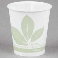 Bare by Solo R53BB-JD110 Eco-Forward 5 oz. Wax Treated Printed Paper Cold Cup - 100/Pack
