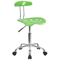 Flash Furniture LF-214-SPICYLIME-GG Spicy Lime Office / Task Chair with Tractor Seat and Chrome Frame