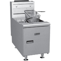 Pitco SGC Natural Gas 35 lb. Countertop Fryer with Millivolt Controls - 75,000 BTU