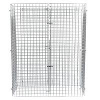 Regency NSF Chrome Wire Security Cage - 24 inch x 48 inch x 61 inch