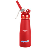 Whip-It SV PRO-03R Red .5 Liter Aluminum Rubber Coated Cream Whipper