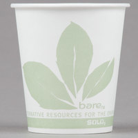 Bare by Solo 44BB-JD110 Eco-Forward 3 oz. Wax Treated Printed Paper Cold Cup - 100/Pack