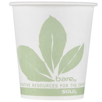 Dart Solo 44BB-JD110 Bare Eco-Forward 3 oz. Wax Treated Printed Paper Cold Cup - 100/Pack