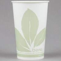 Dart Solo RW16BB-JD110 Bare Eco-Forward 16 oz. Wax Treated Printed Paper Cold Cup - 50/Pack