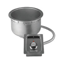 Wells SS8TD 7 Qt. Round Drop-In Soup Well with Drain- Top Mount, Thermostatic Control, 120V