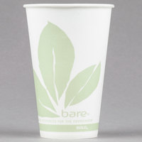 Dart Solo R12BB-JD110 Bare Eco-Forward 12 oz. Wax Treated Printed Paper Cold Cup - 100/Pack