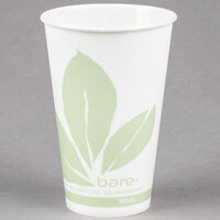 Bare by Solo R12BB-JD110 Eco-Forward 12 oz. Wax Treated Printed Paper Cold Cup - 100/Pack