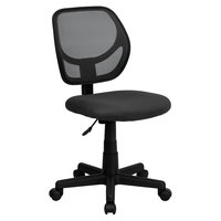 Flash Furniture WA-3074-GY-GG Mid-Back Gray Mesh Office / Task Chair with Nylon Frame and Swivel Base