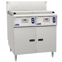 Pitco SRTG14-2-D Liquid Propane 17.5 Gallon Two Section Commercial Pasta Cooker with Digital Controls - 110,000 BTU