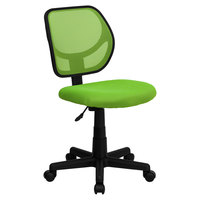 Flash Furniture WA-3074-GN-GG Mid-Back Green Mesh Office / Task Chair with Nylon Frame and Swivel Base