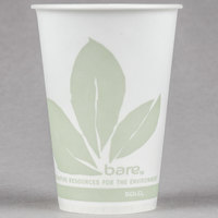 Bare by Solo R7BB-JD110 Eco-Forward 7 oz. Wax Treated Printed Paper Cold Cup - 100/Pack