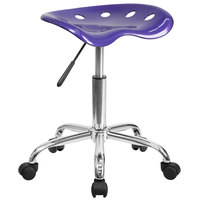 Flash Furniture LF-214A-VIOLET-GG Violet Office Stool with Tractor Seat and Chrome Frame