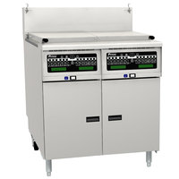 Pitco SRTG14-2-I12 Natural Gas 17.5 Gallon Two Section Commercial Pasta Cooker with I12 Computer Controls - 110,000 BTU