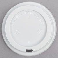 Choice 8 oz. Tall White Hot Paper Cup Travel Lid - 100/Pack