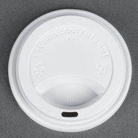Choice 8 oz. White Hot Paper Cup Travel Lid - 100 / Pack