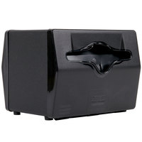 Vollrath 8545-06 Black Two Sided Tabletop Fullfold Limited Napkin Dispenser with Black Faceplate