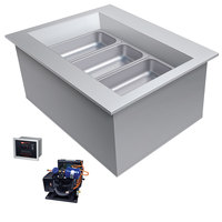 Hatco CWBR-1 One Pan Slanted Refrigerated Drop-In Cold Food Well with Drain and Remote Condenser - 120V