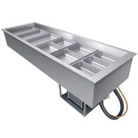Hatco CWB-6 Six Pan Slanted Refrigerated Drop-In Cold Food Well with Drain - 120V