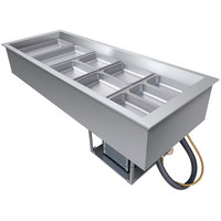 Hatco CWB-5 Five Pan Slanted Refrigerated Drop-In Cold Food Well with Drain - 120V
