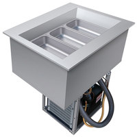 Hatco CWB-1 One Pan Slanted Refrigerated Drop-In Cold Food Well with Drain - 120V