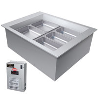 Hatco CWBX-2 Two Pan Slanted Refrigerated Drop-In Cold Food Well without Condenser - 120V