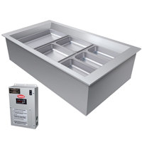 Hatco CWBX-3 Three Pan Slanted Refrigerated Drop-In Cold Food Well without Condenser - 120V
