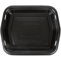 Genpak 50010-3L Smart-Set 8 7/8 inch x 10 5/8 inch Black Rectangular Foam Serving Tray - 250/Case