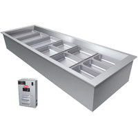 Hatco CWBX-6 Six Pan Slanted Refrigerated Drop-In Cold Food Well without Condenser - 120V