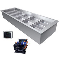 Hatco CWBR-6 Six Pan Slanted Refrigerated Drop-In Cold Food Well with Drain and Remote Condenser - 120V