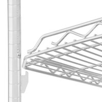 Metro HDM1848QW qwikSLOT Drop Mat White Wire Shelf - 18 inch x 48 inch
