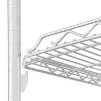 Metro HDM1848QW qwikSLOT Drop Mat White Wire Shelf - 18 inch x 48 inch