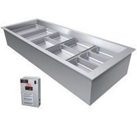 Hatco CWBX-5 Five Pan Slanted Refrigerated Drop-In Cold Food Well without Condenser - 120V