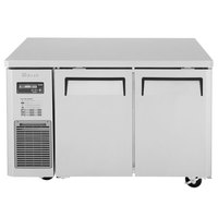 Turbo Air JUR-48N J Series 48 inch Narrow Depth Solid Door Undercounter Refrigerator with Side Mounted Compressor