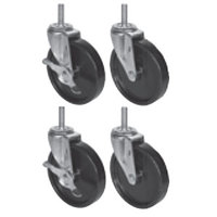 Beverage-Air 61C01-001A Equivalent 6 inch Replacement Casters - 4/Set