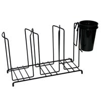 San Jamar C8003WFS 3 Stack Horizontal Cup and Lid Wire Organizer