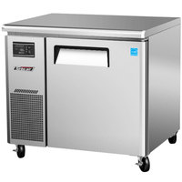 Turbo Air JUR-36N J Series 36 inch Narrow Depth Undercounter Refrigerator with Side Mounted Compressor - 6.3 Cu. Ft.