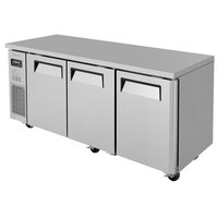 Turbo Air JUR-72N J Series 72 inch Narrow Depth Solid Door Undercounter Refrigerator with Side Mounted Compressor