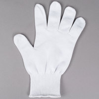 San Jamar SG10-L White Cut Resistant Glove with Dyneema - Large