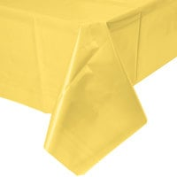 Creative Converting 1252 54 inch x 108 inch Mimosa Yellow Disposable Plastic Table Cover