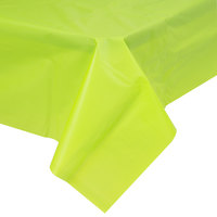 Creative Converting 723123B 54 inch x 108 inch Fresh Lime Green Disposable Plastic Table Cover