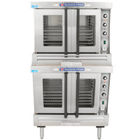Bakers Pride GDCO-G2 Cyclone Series Liquid Propane Double Deck Full Size Convection Oven - 120,000 BTU